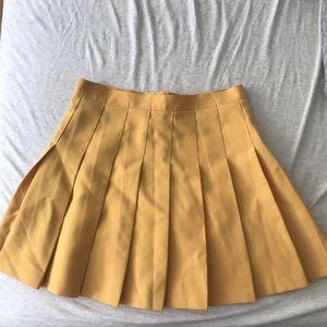 Mustard pleated skirt